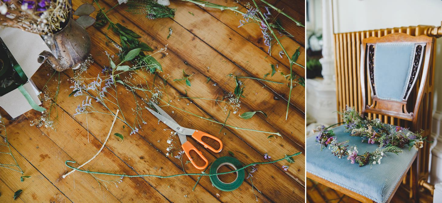 mount stuart wedding photography floral crowns