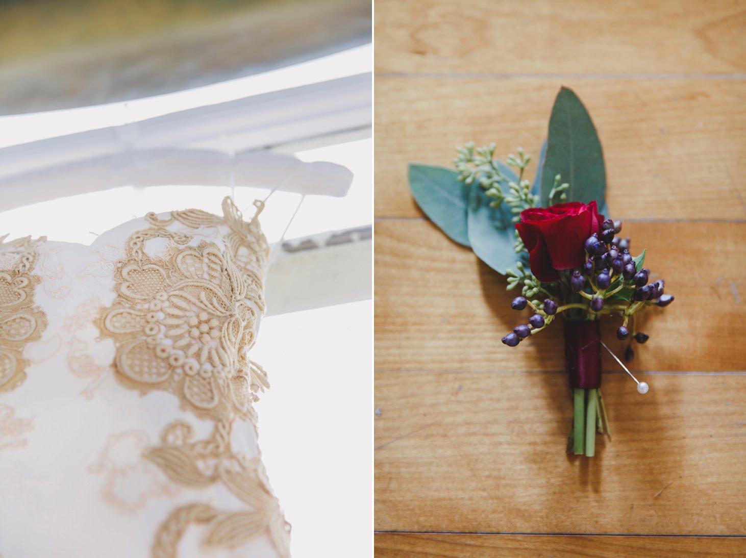 mount stuart wedding photography wedding dress detail