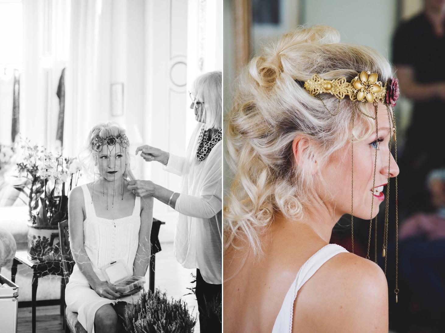 mount stuart wedding photography bride's crown