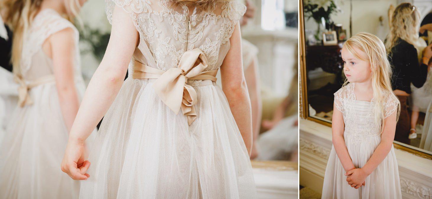 mount stuart wedding photography flower girl dress