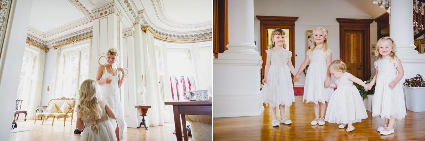 mount stuart wedding photography flower girls together