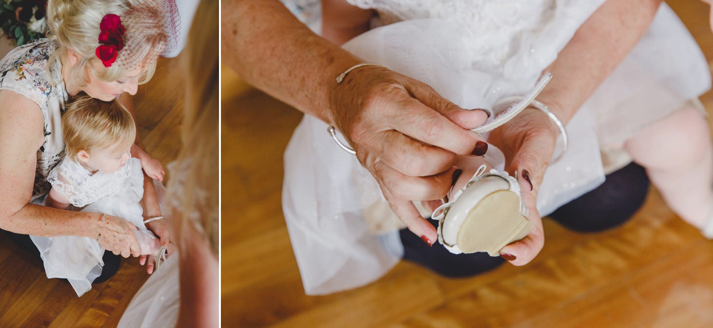 mount stuart wedding photography flower girl shoes