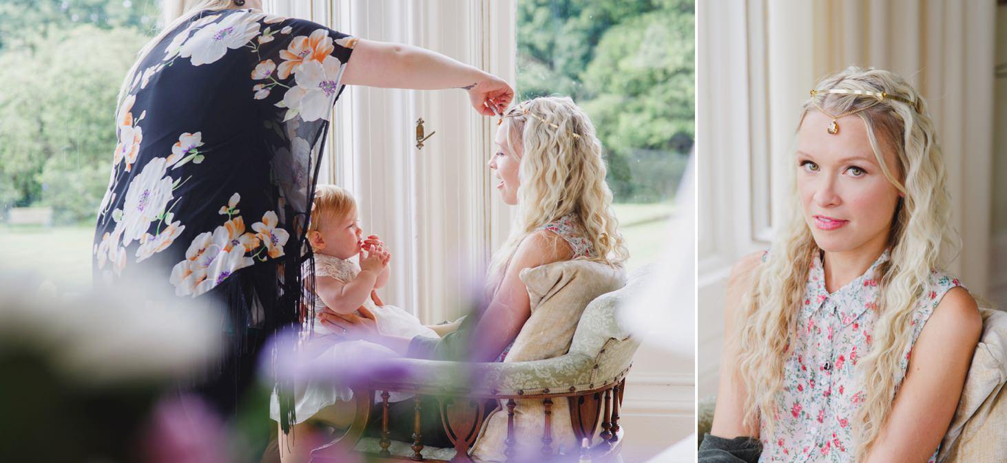 mount stuart wedding photography bridesmaids makeup