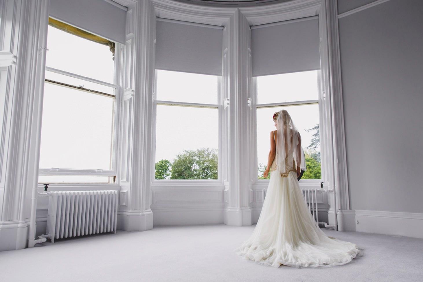mount stuart wedding photography portrait of bride
