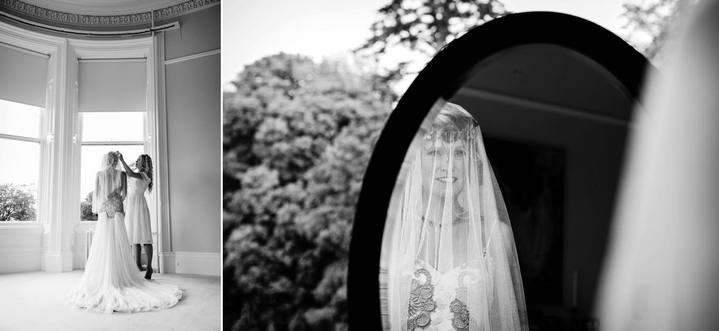 mount stuart wedding photography bride in veil