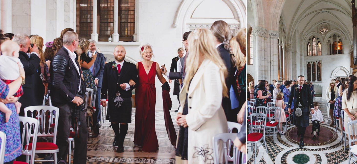 mount stuart wedding photography brides family arrival