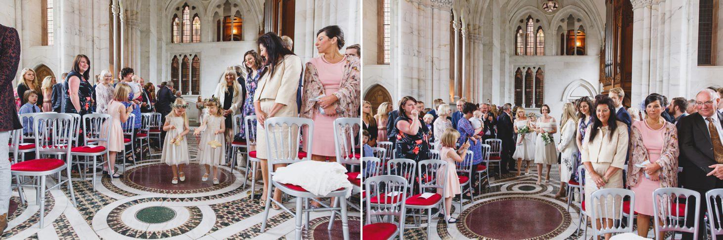 mount stuart wedding photography bridesmaids arrival