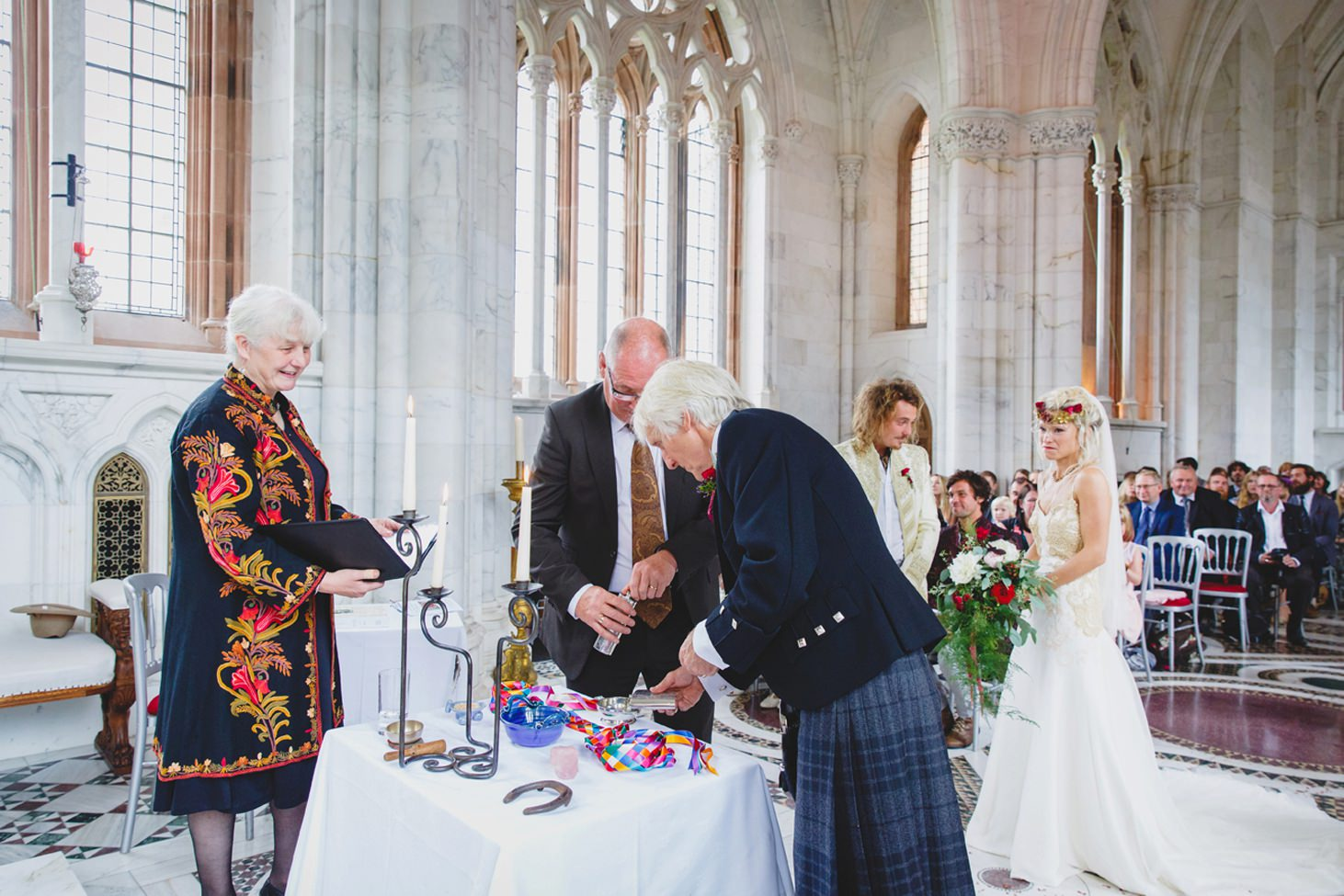 mount stuart wedding photography fathers pouring whiskey