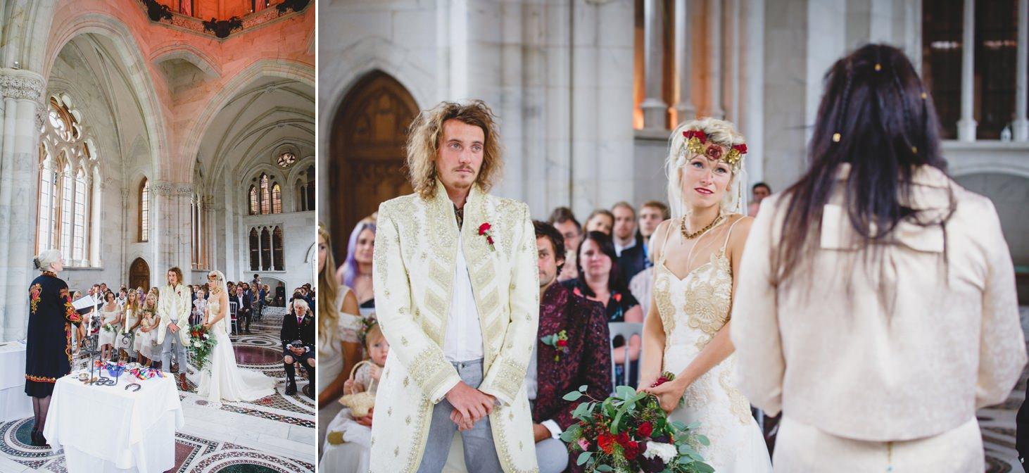 mount stuart wedding photography ceremony reading