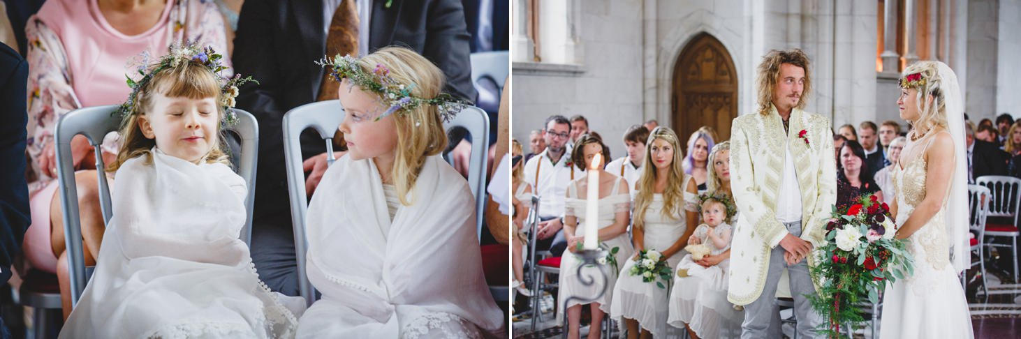 mount stuart wedding photography flower girls during ceremony