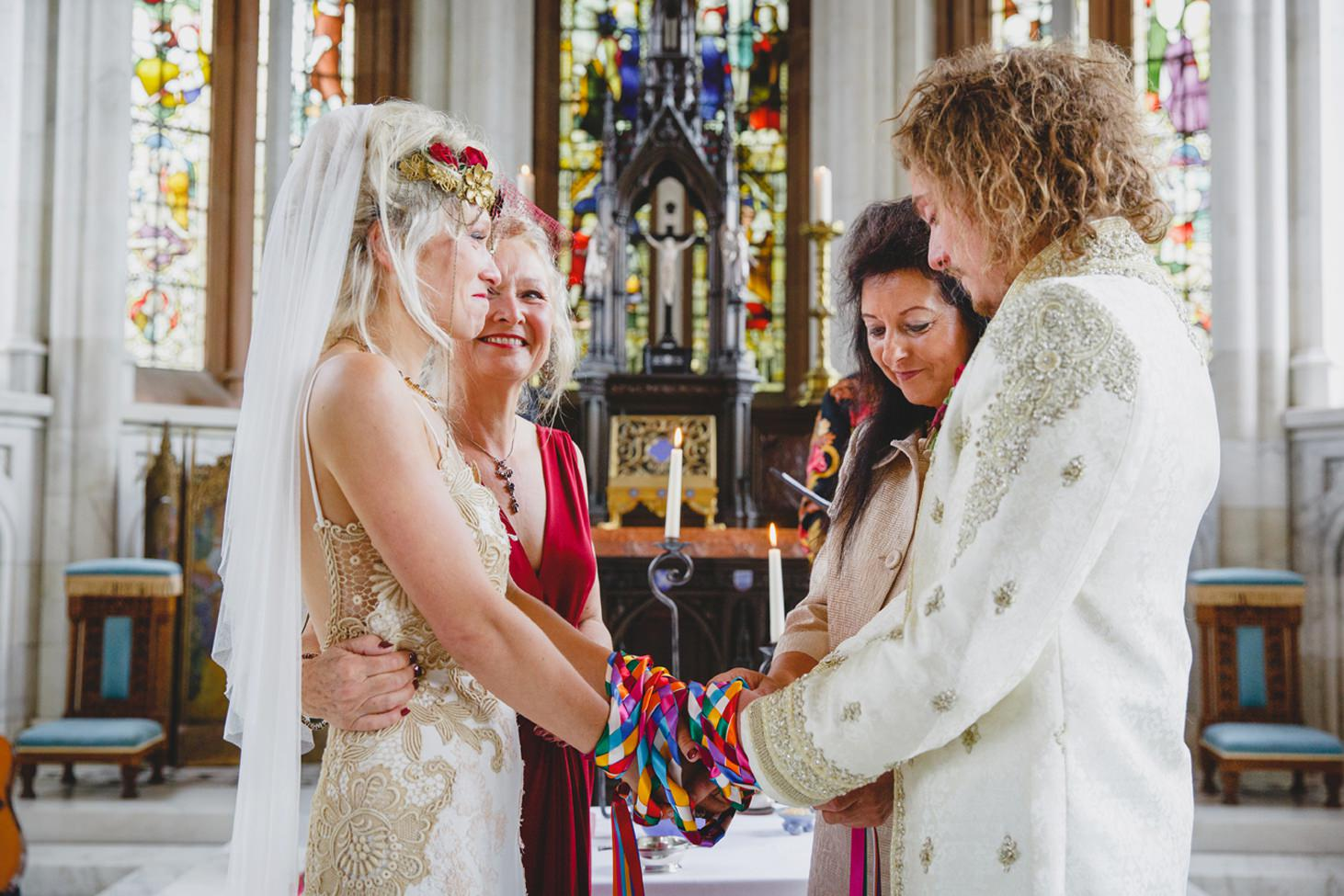mount stuart wedding photography mothers of bride and groom during ceremony