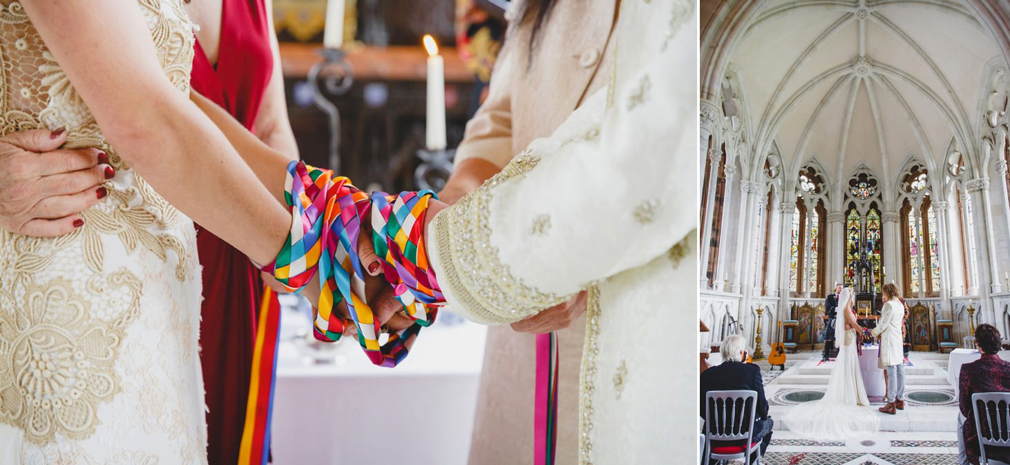 mount stuart wedding photography close up detail of rainbow ribbon