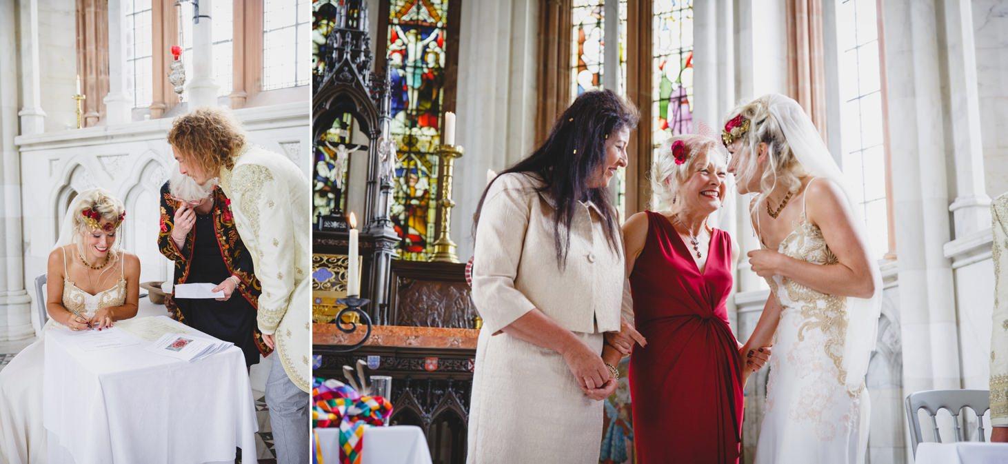 mount stuart wedding photography register signing