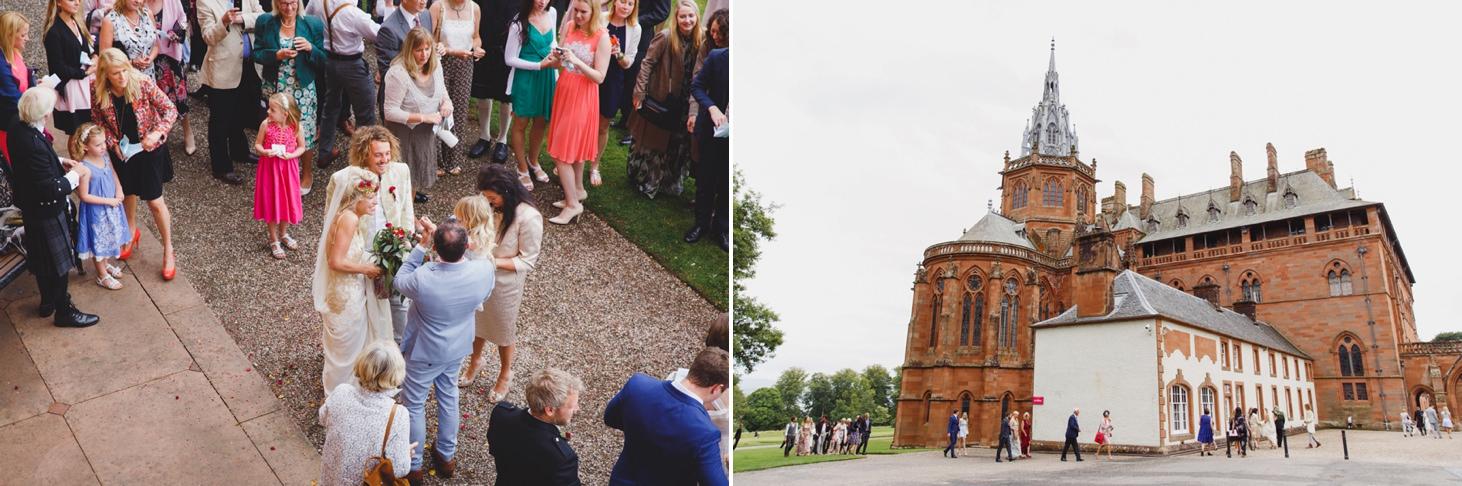 mount stuart wedding photography wedding guests