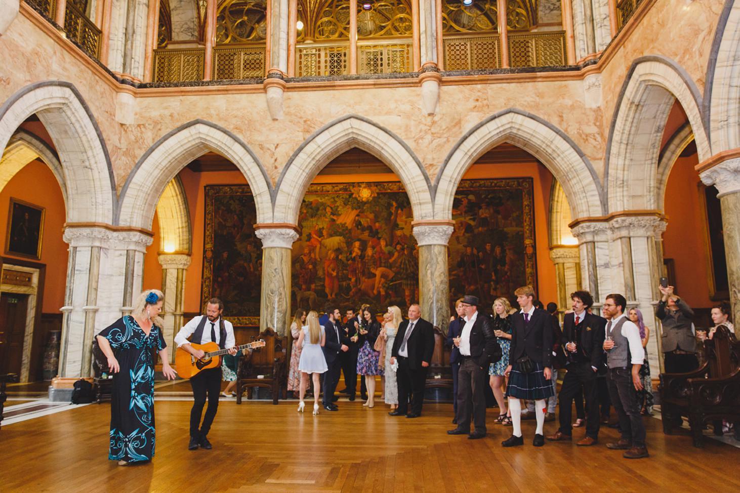 mount stuart wedding photography wedding singers in marble hall