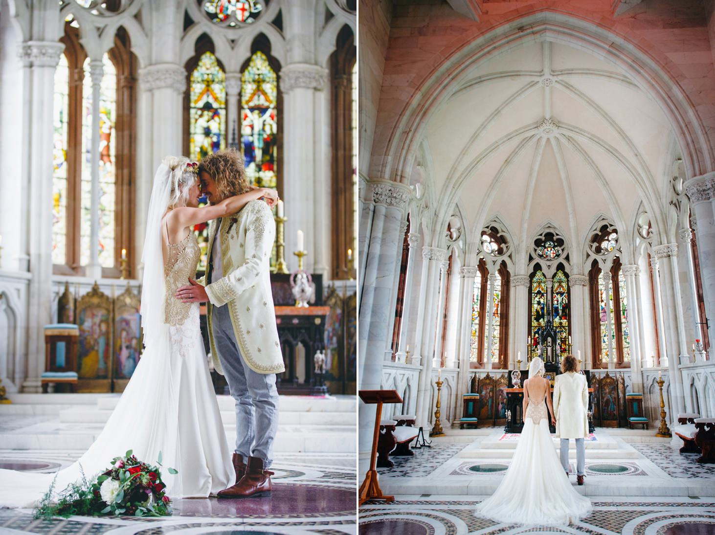 mount stuart wedding photography bride and groom together