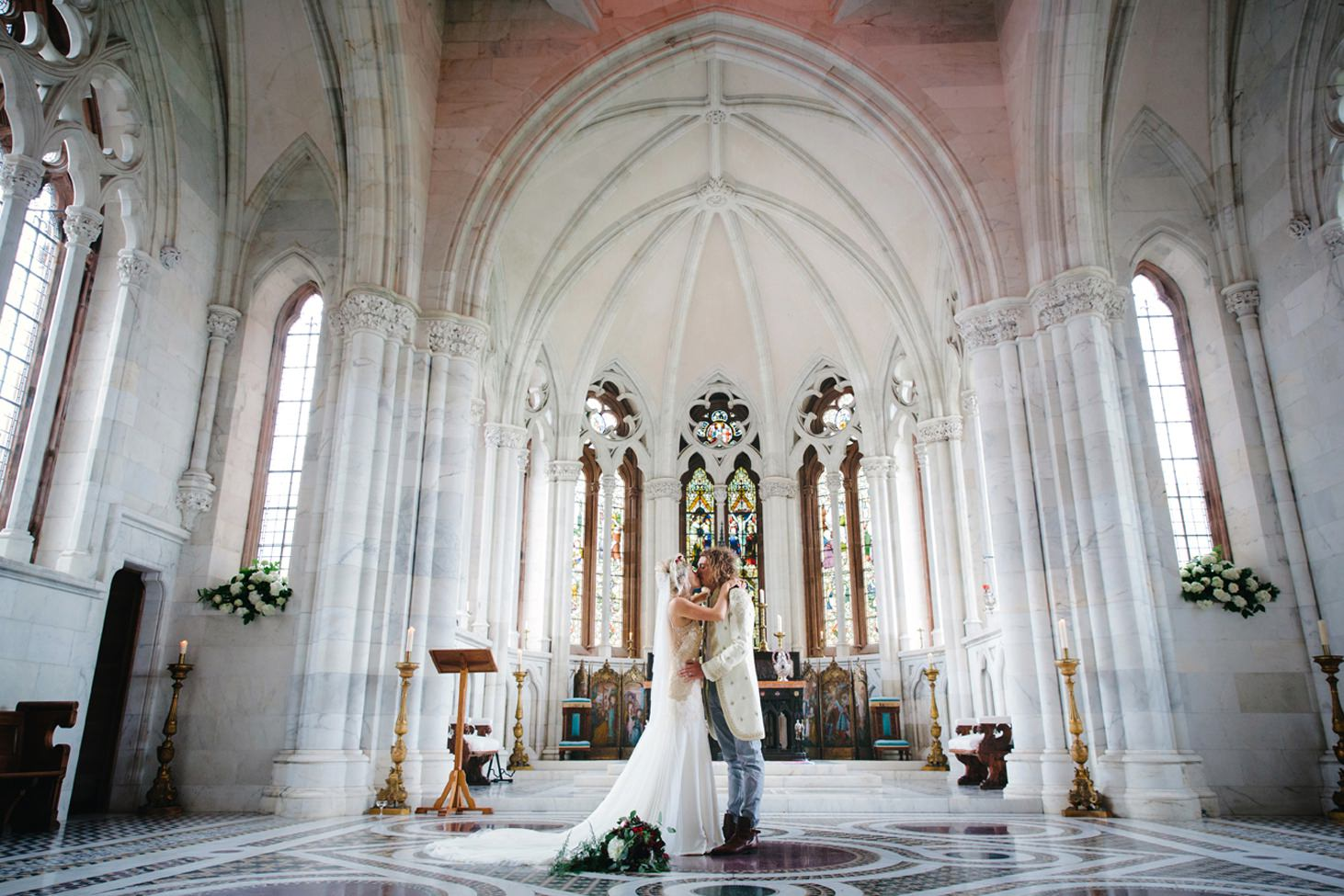 mount stuart wedding photography able chapel bride and groom