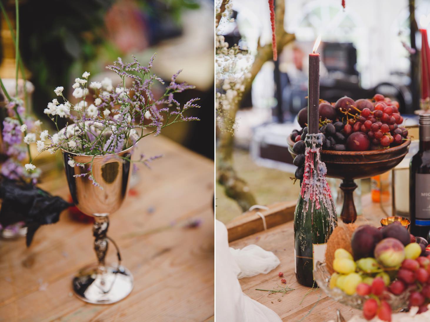 mount stuart wedding photography rustic table decoration