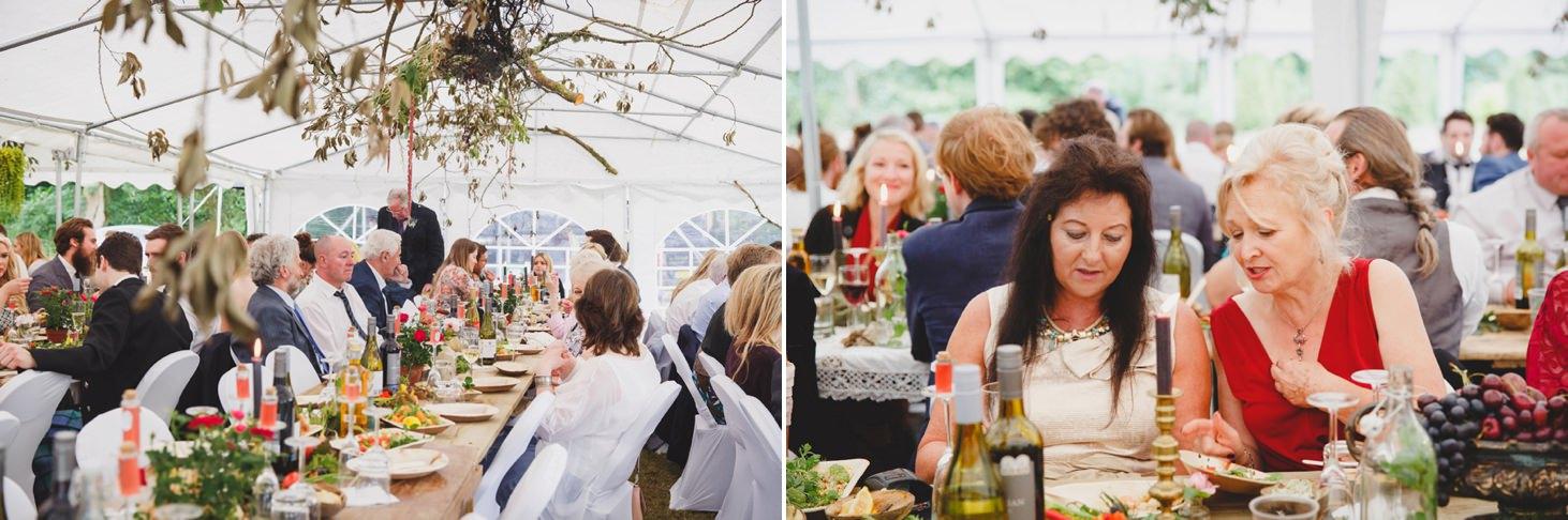 mount stuart wedding photography wedding guests enjoying food