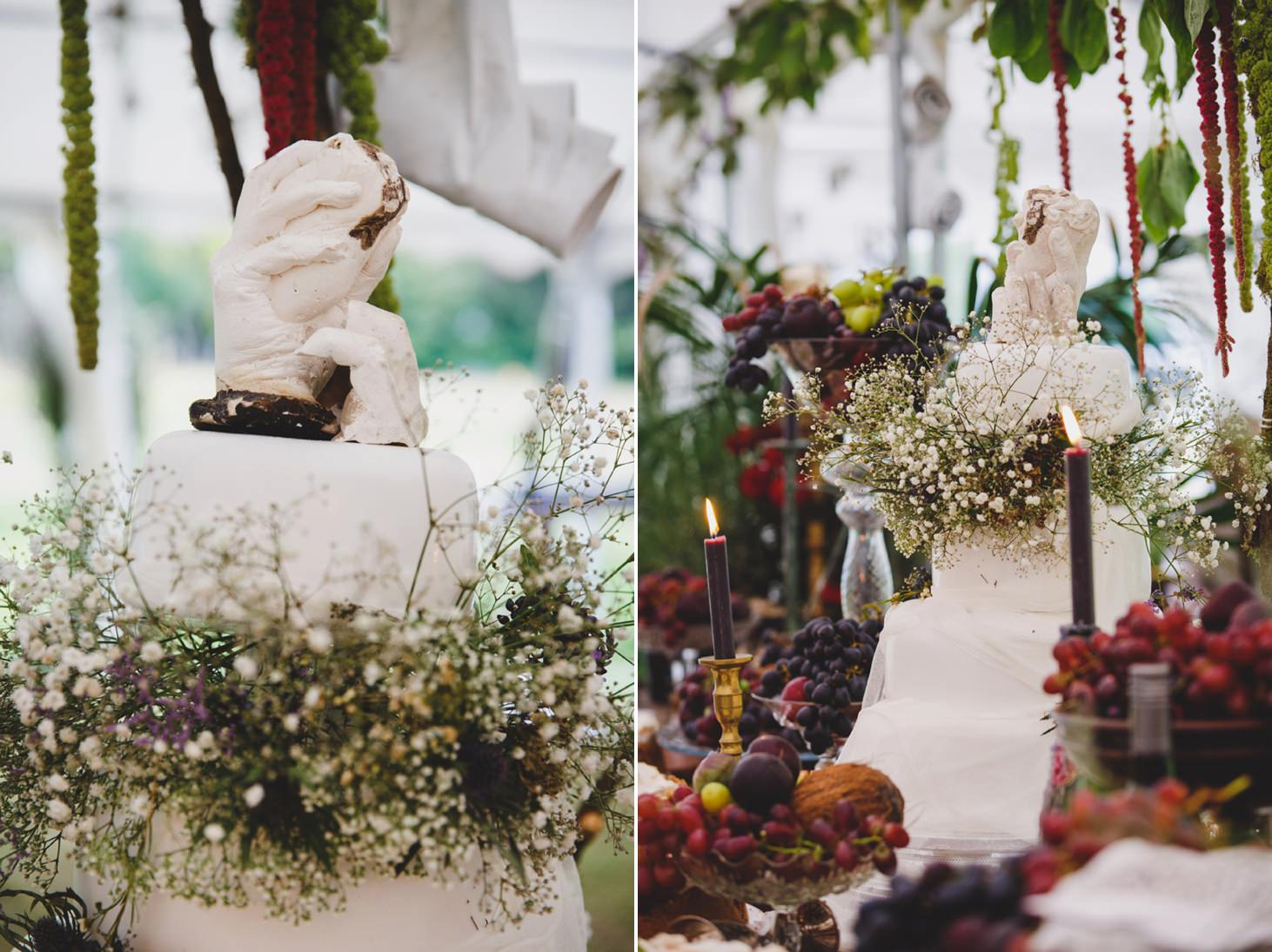 mount stuart wedding photography handmade sculpture cake