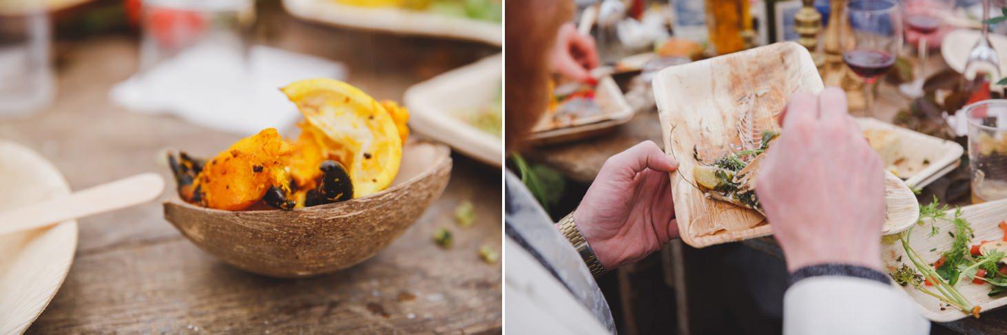 mount stuart wedding photography wedding breakfast food