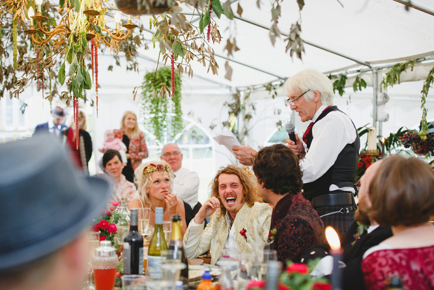 mount stuart wedding photography father of bride giving speech
