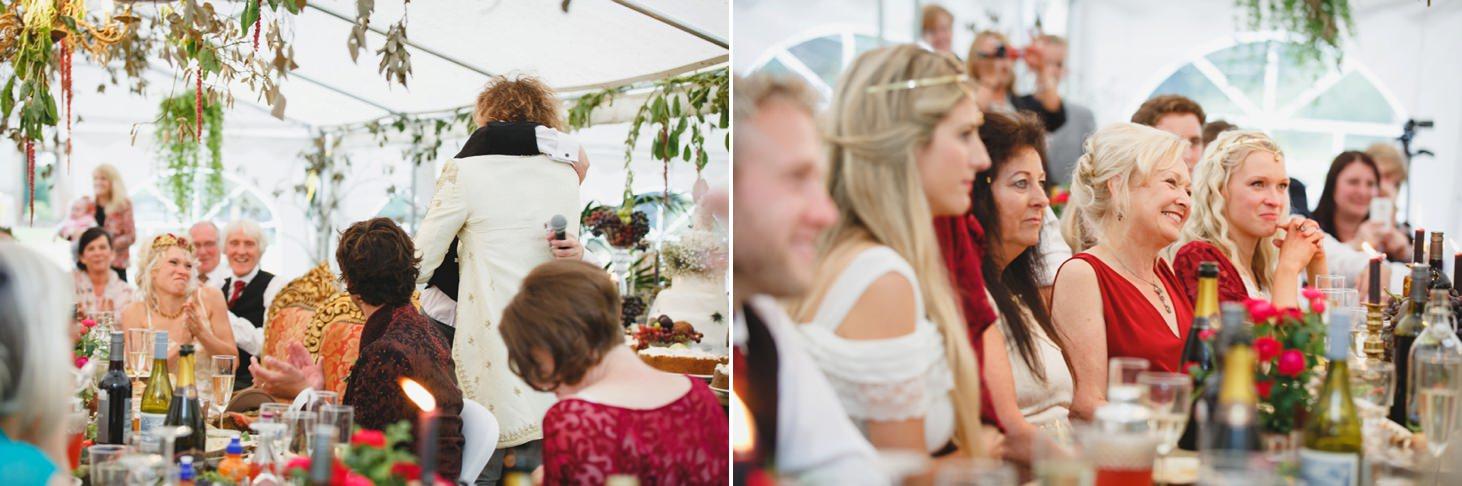 mount stuart wedding photography guests during wedding speech