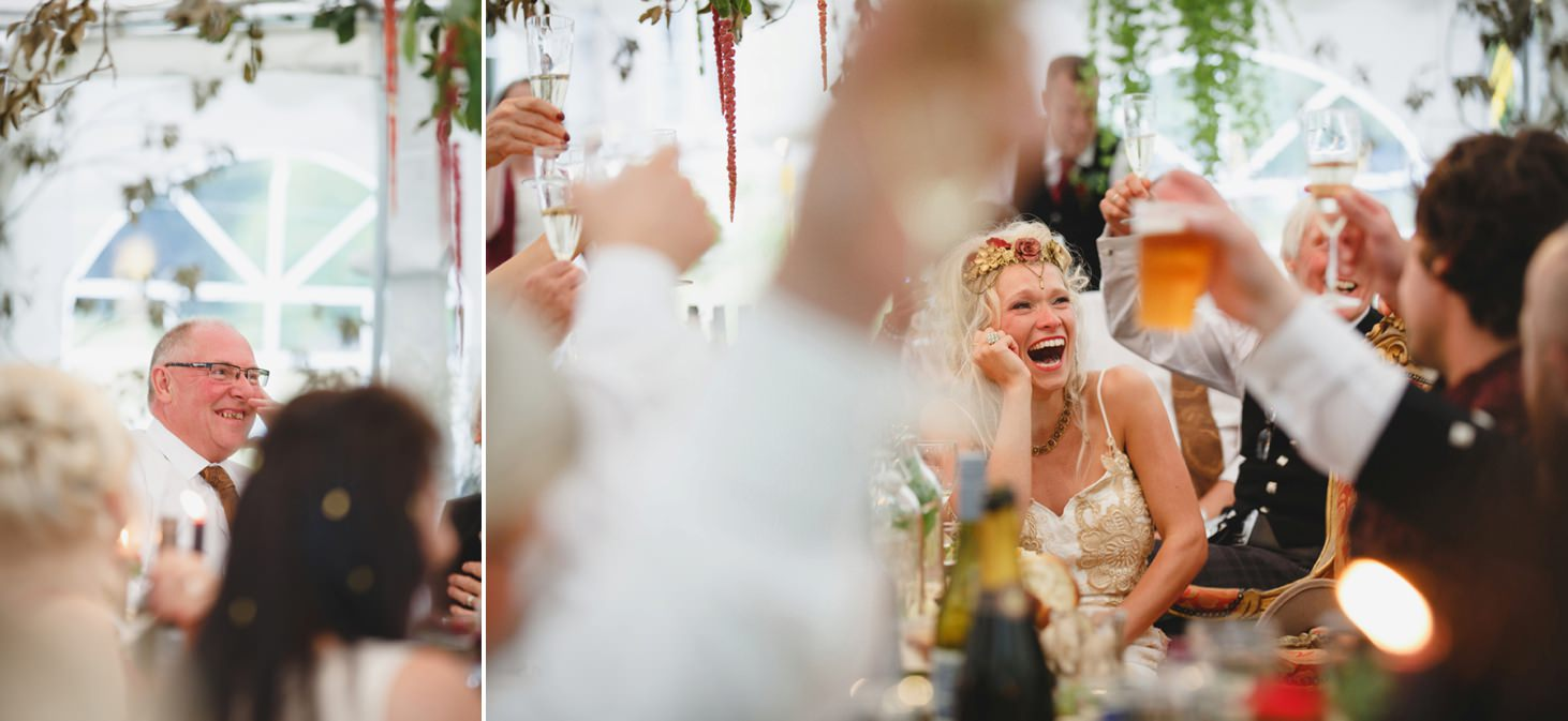 mount stuart wedding photography guest reactions