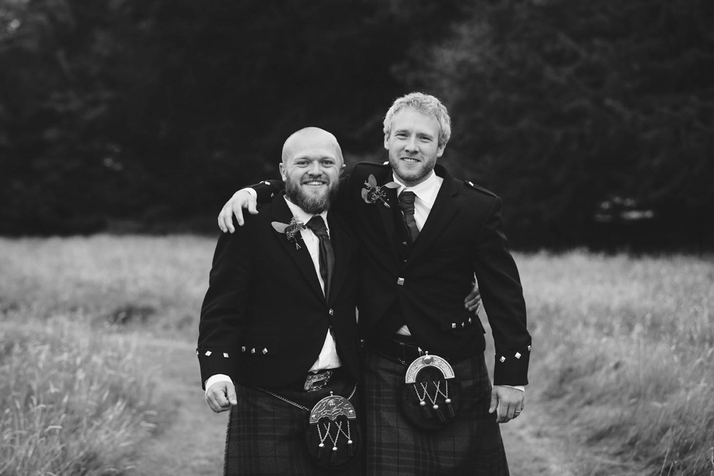 mount stuart wedding photography best men