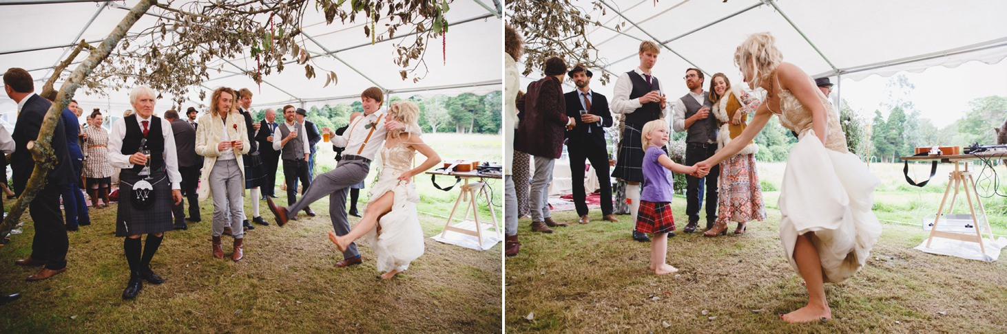 mount stuart wedding photography dancing