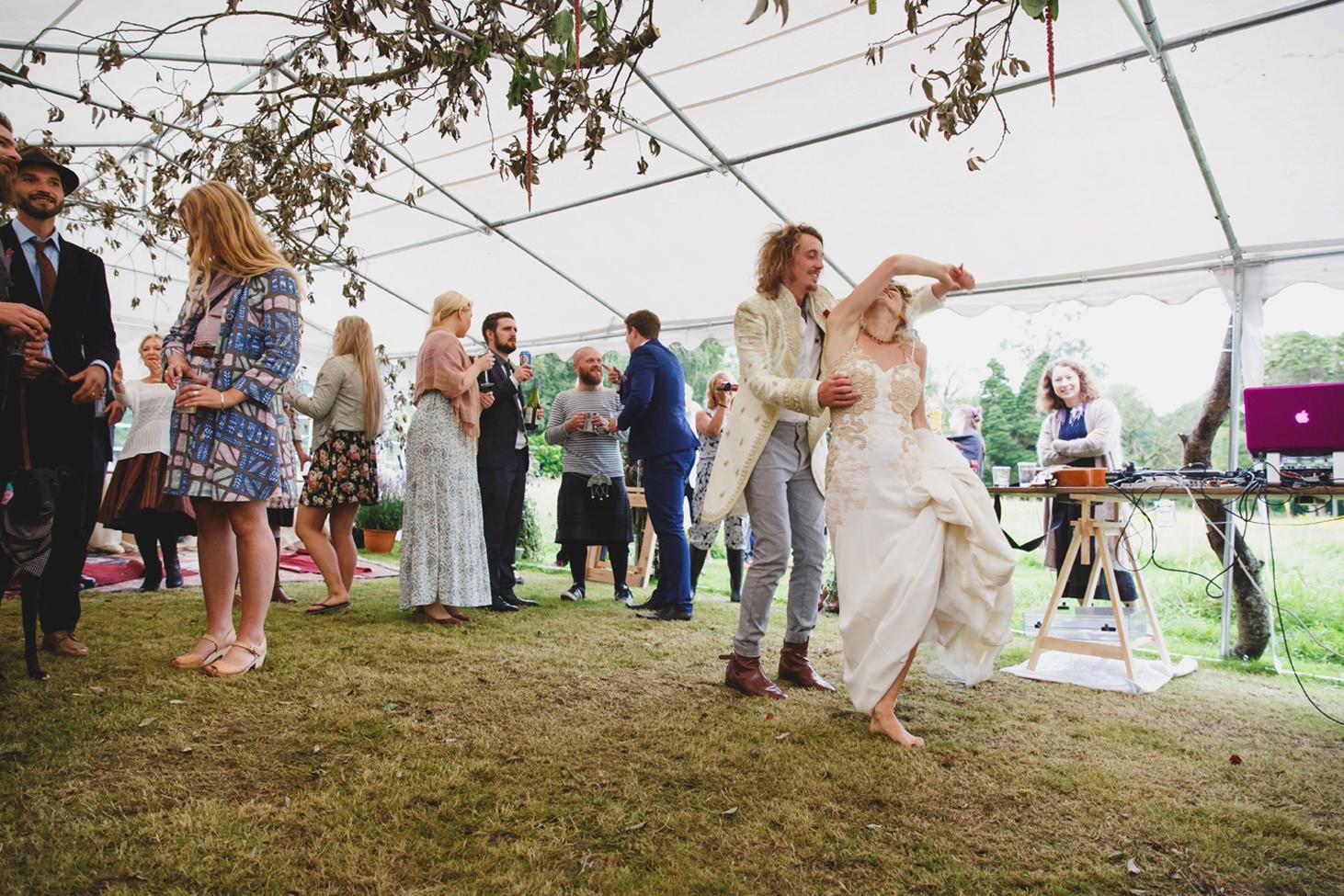 mount stuart wedding photography groom and bride dance