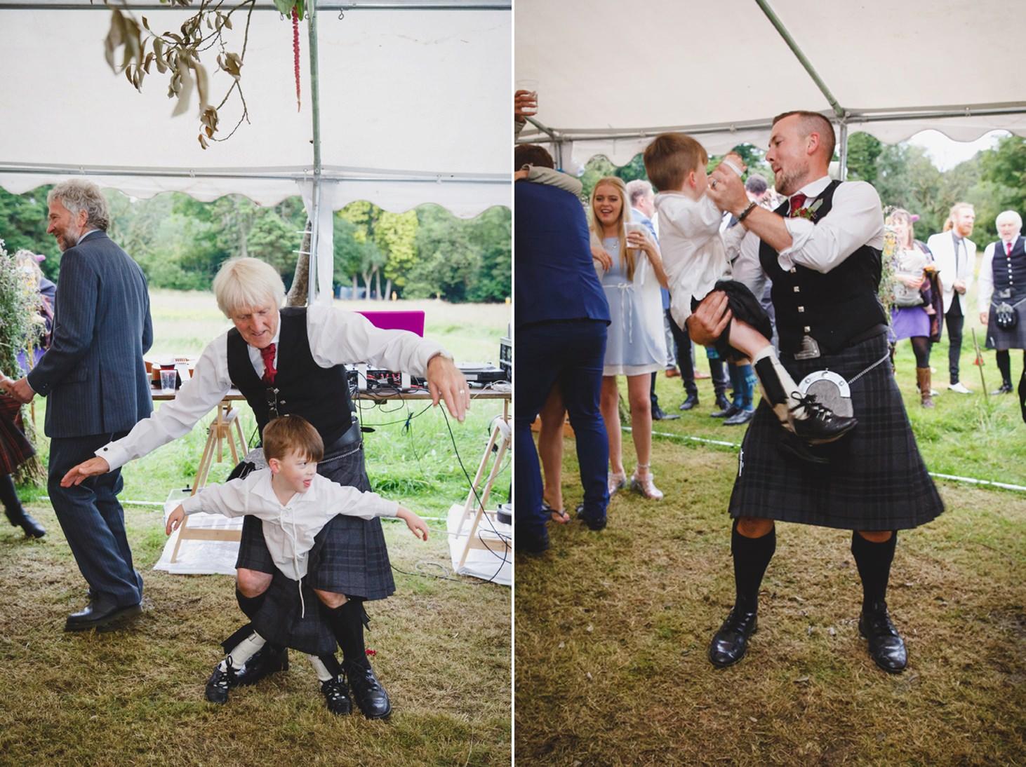 mount stuart wedding photography fun dancing