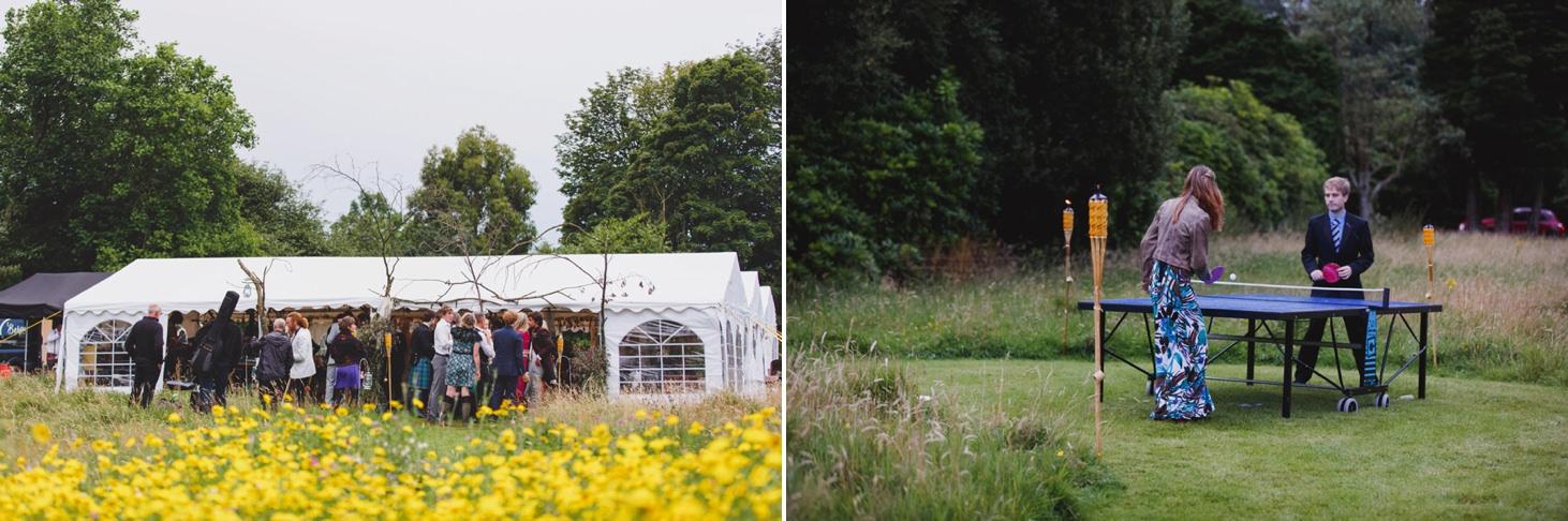 mount stuart wedding photography wedding reception field