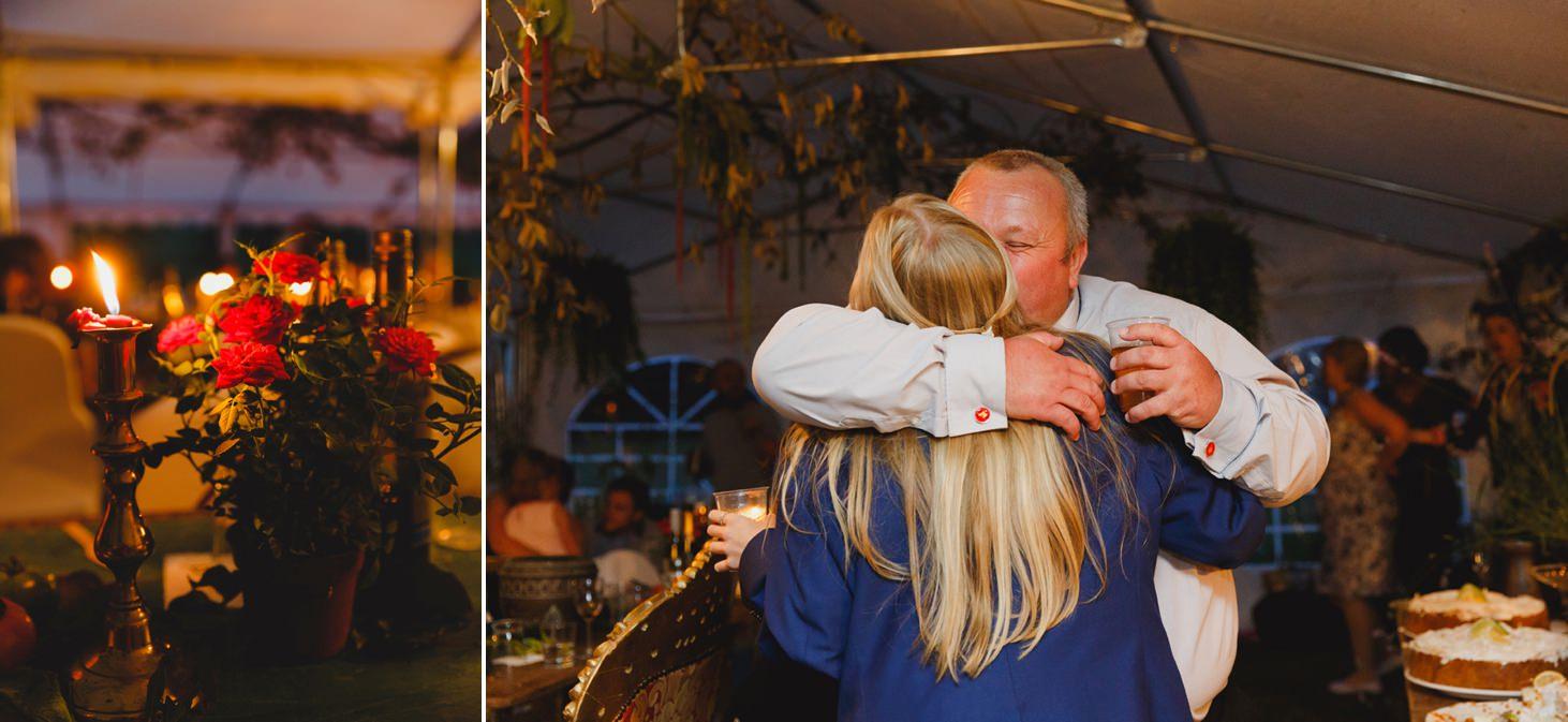 mount stuart wedding photography guests hugging