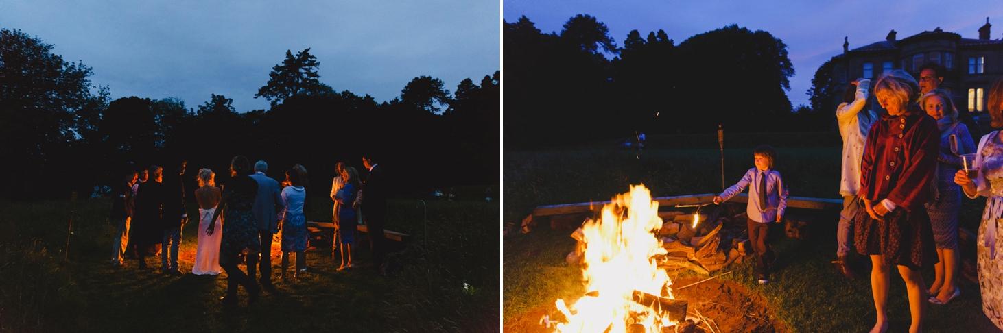 mount stuart wedding photography bonfire