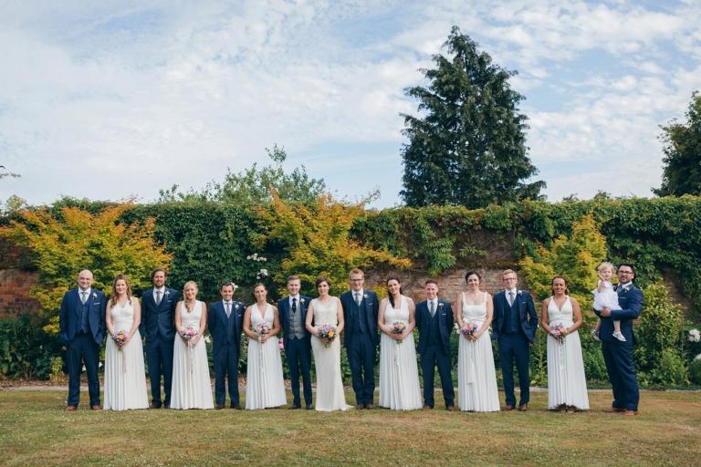 Gaynes park relaxed rustic wedding bridesmaids and groomsmen