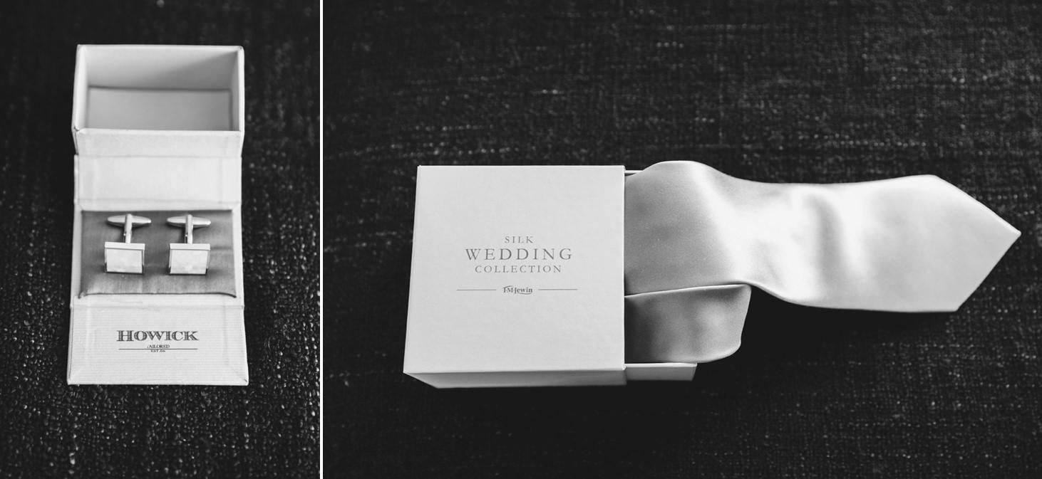The Rectory Hotel wedding groom tie