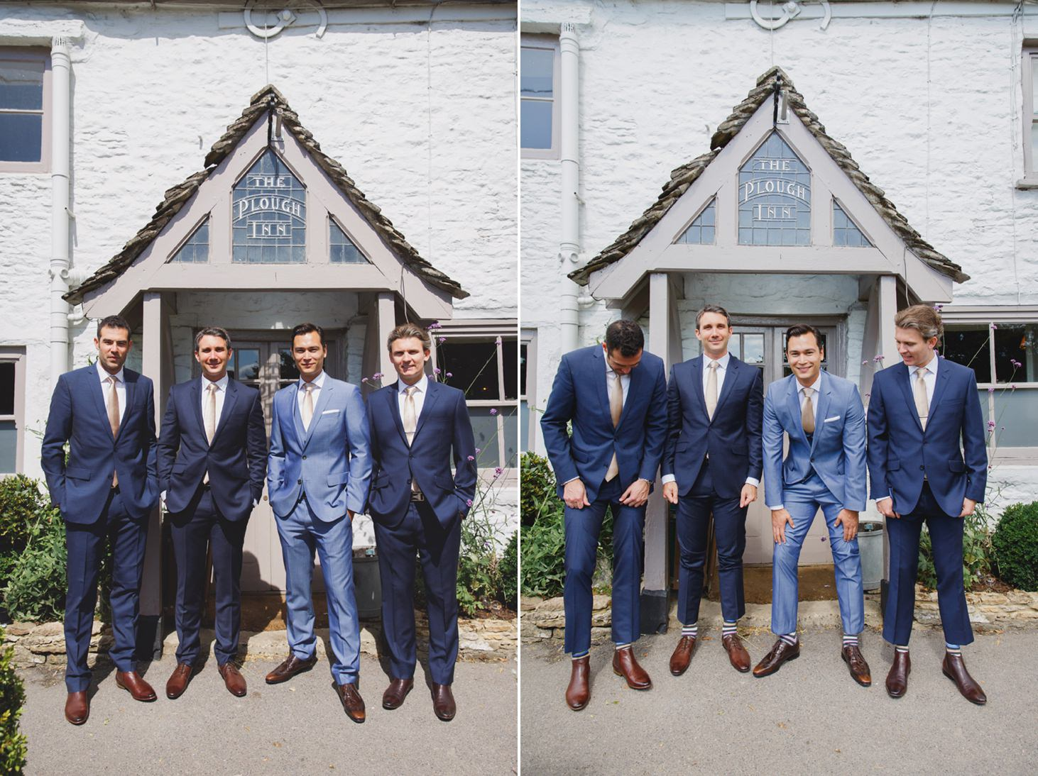 The Rectory Hotel wedding groomsmen portraits