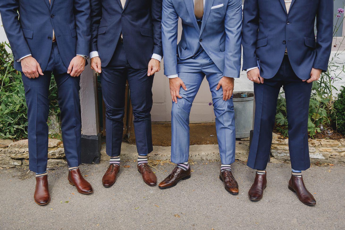 The Rectory Hotel wedding groomsmen's socks