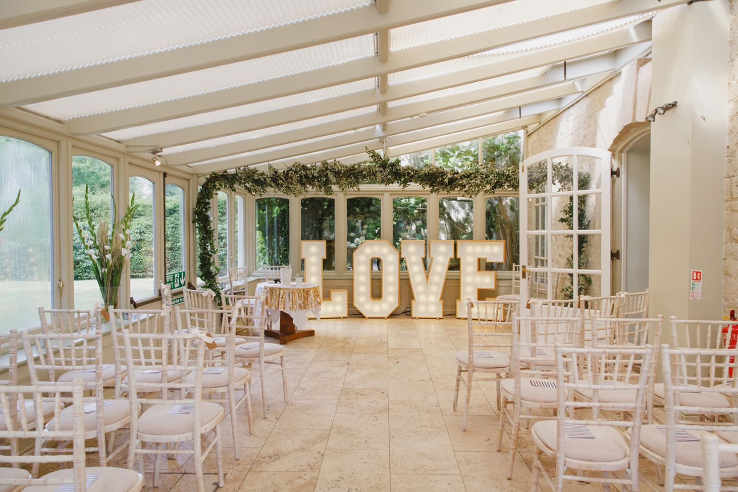 The Rectory Hotel wedding ceremony room
