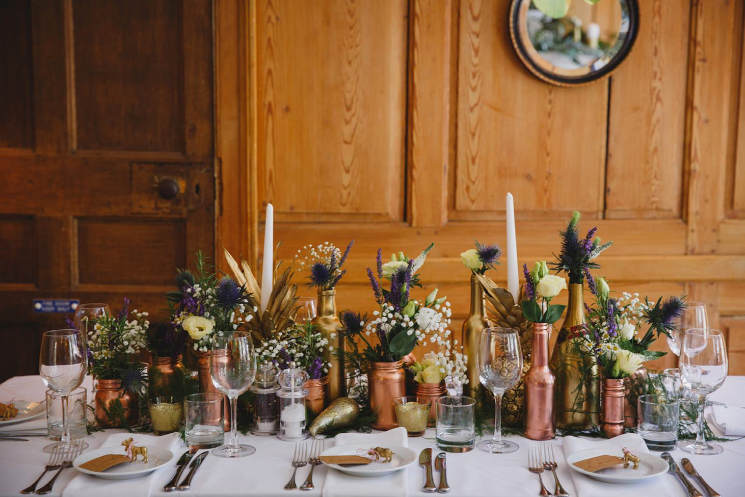 The Rectory Hotel Crudwell handmade table decorations