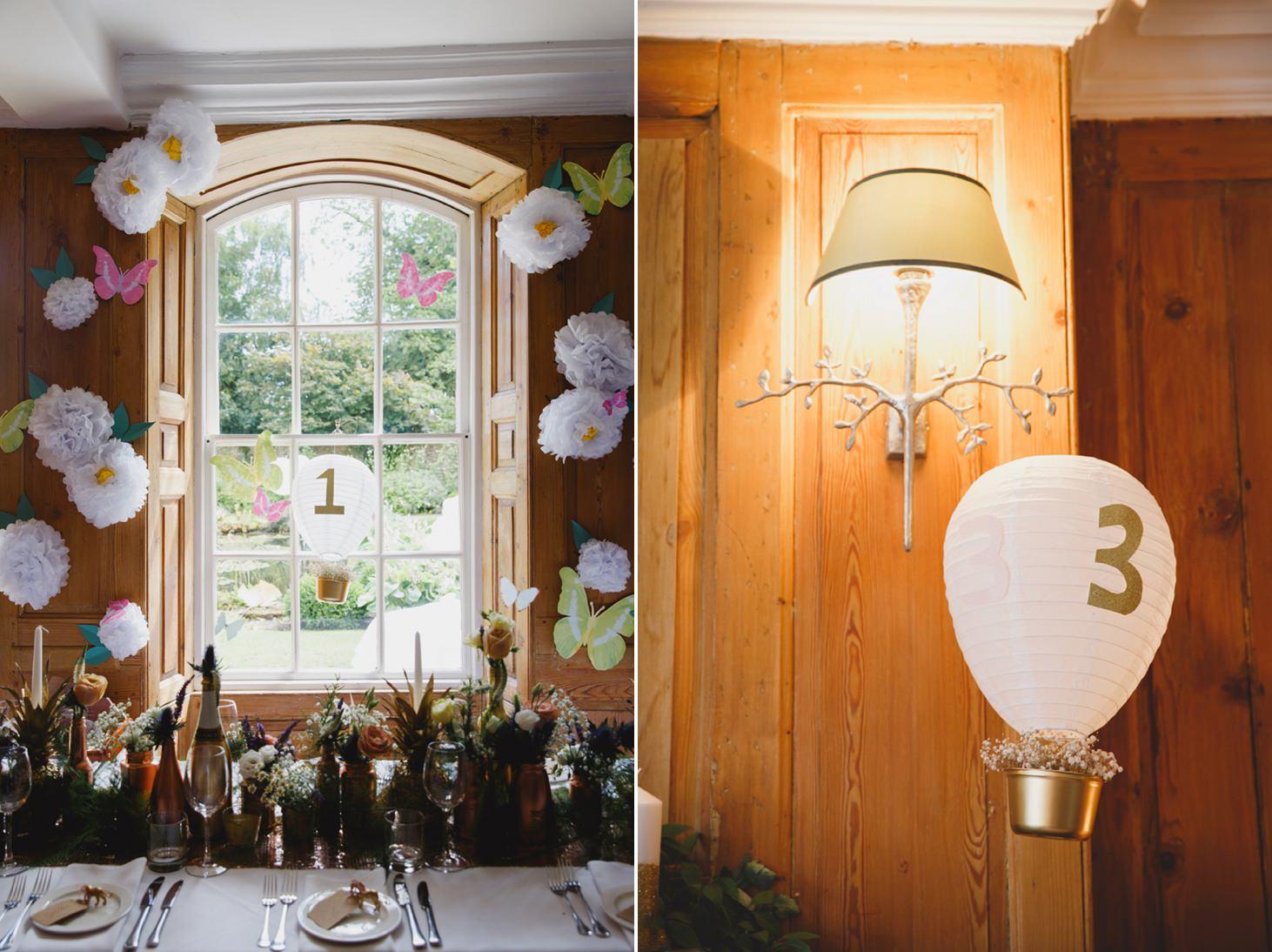 The Rectory Hotel Crudwell interior decorations handmade
