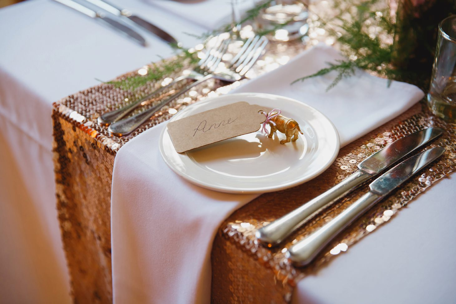 The Rectory Hotel Crudwell table place setting