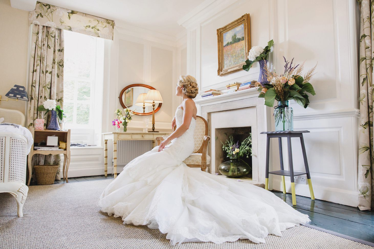 The Rectory Hotel Crudwell bride in wedding dress