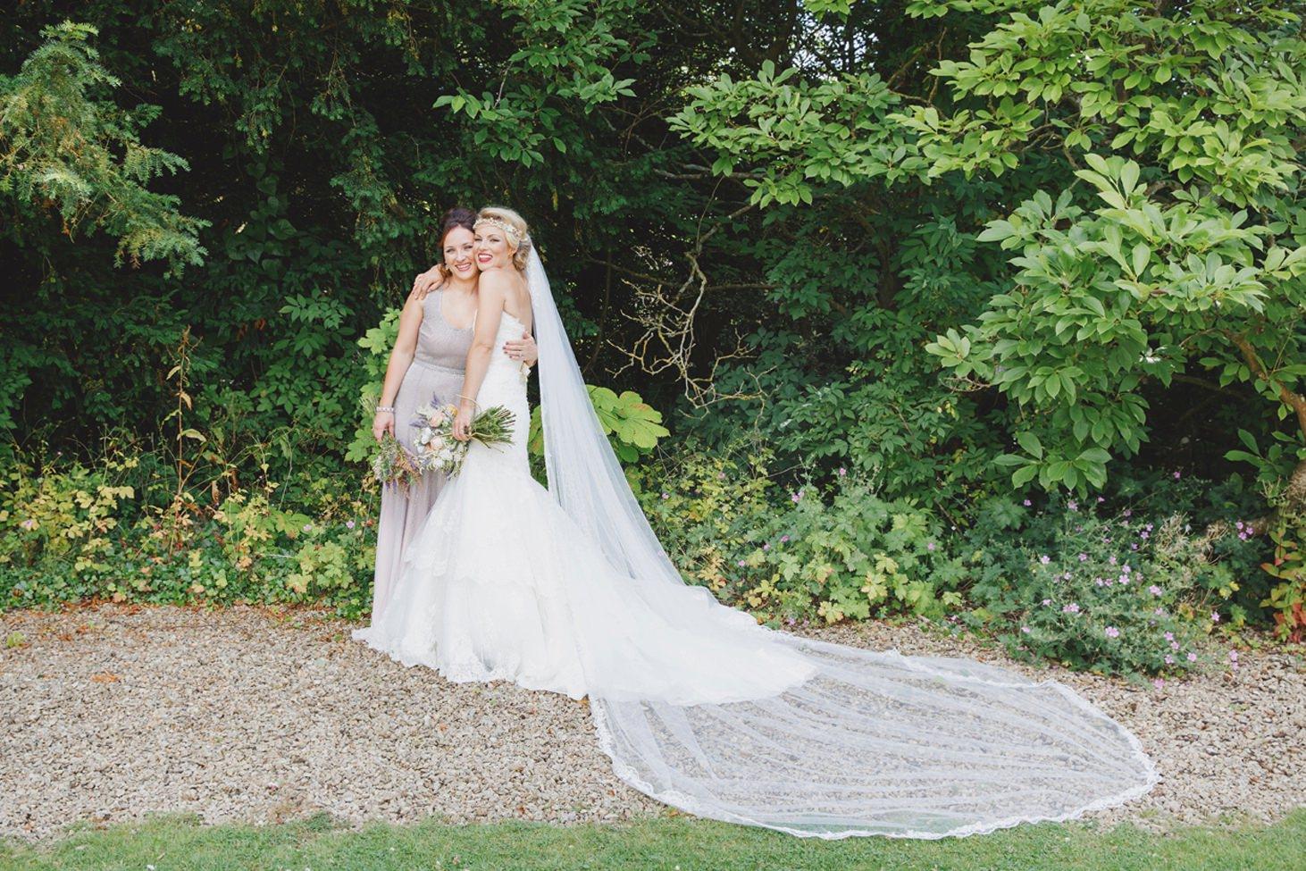 The Rectory Hotel Crudwell bride and bridesmaid sister