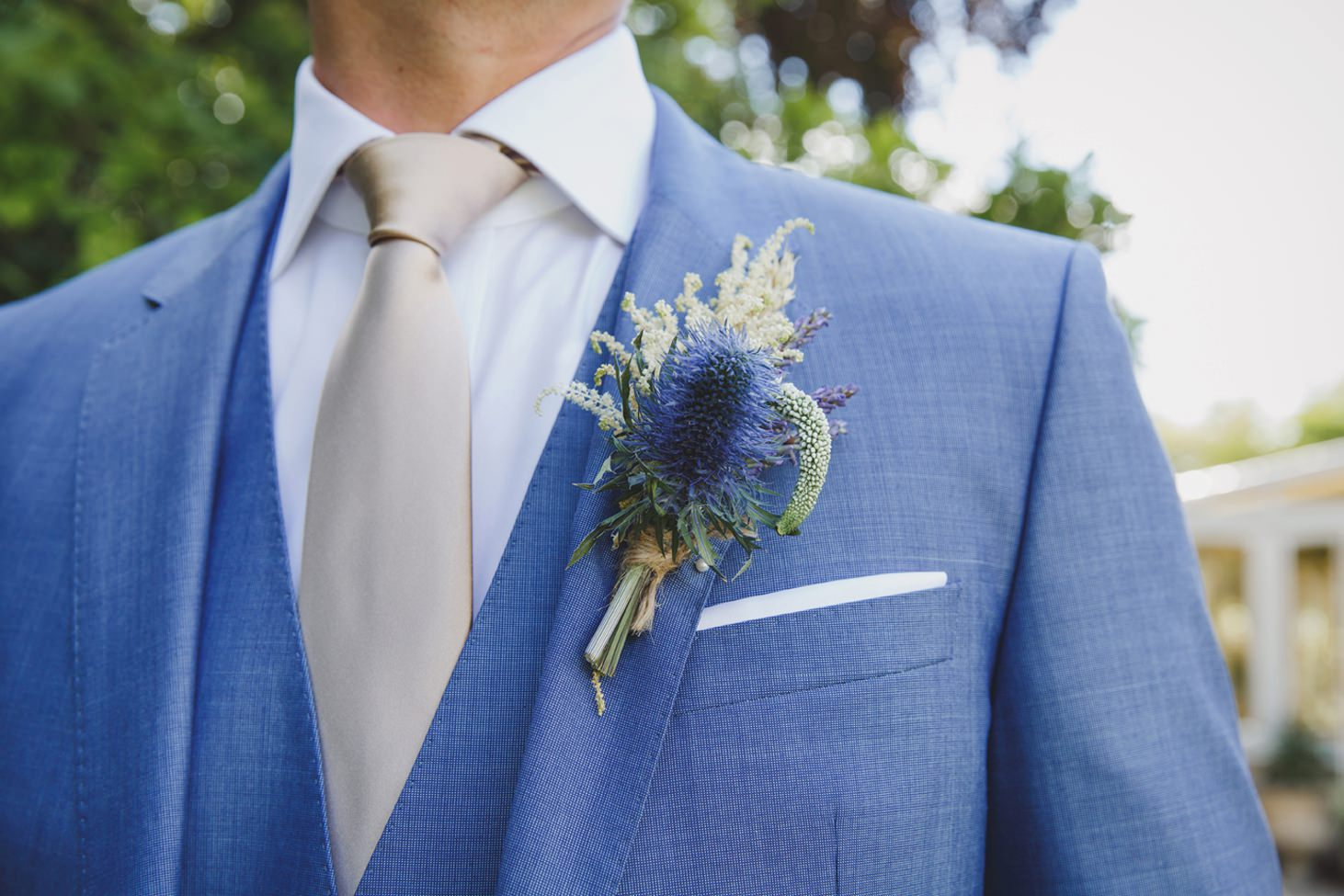 The Rectory Hotel Crudwell buttonhole detail