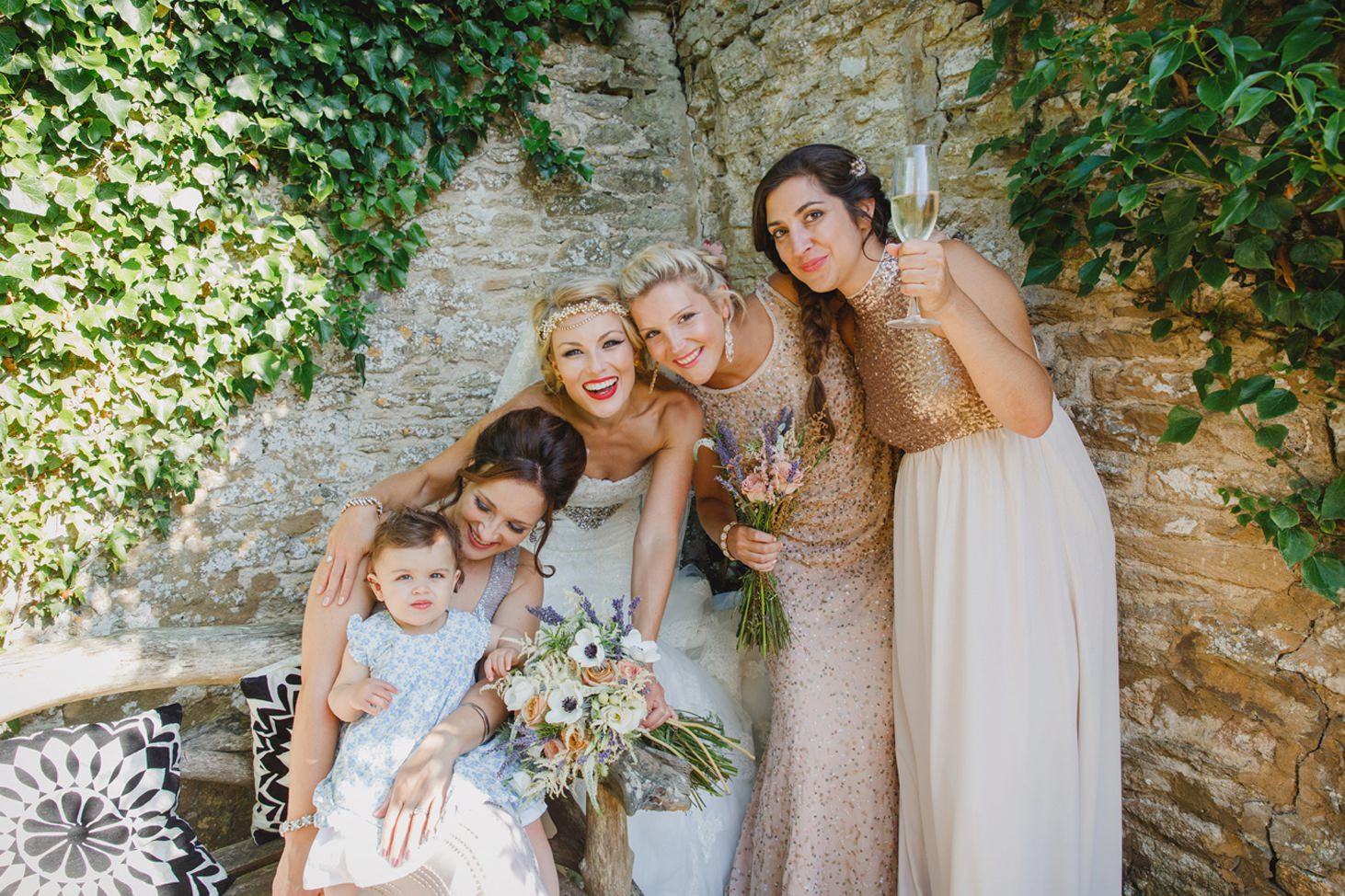 The Rectory Hotel Crudwell bridesmaids
