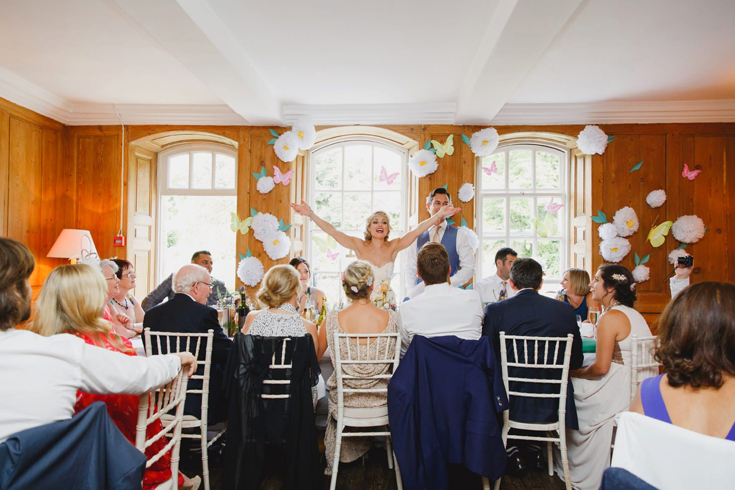 The Rectory Hotel Crudwell bride and groom speech