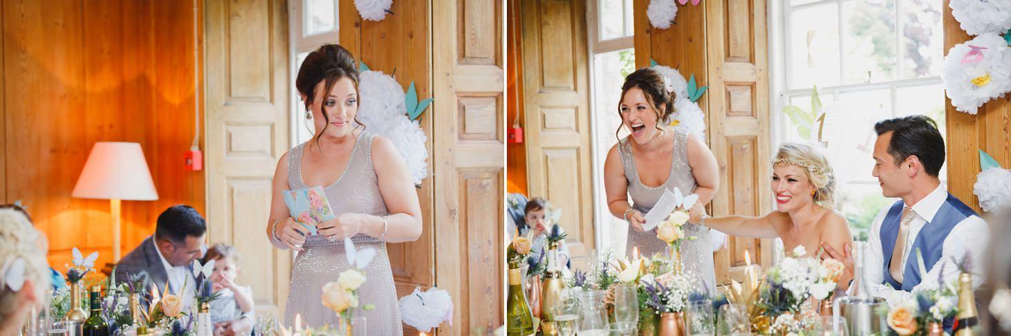The Rectory Hotel Crudwell bridesmaid speech