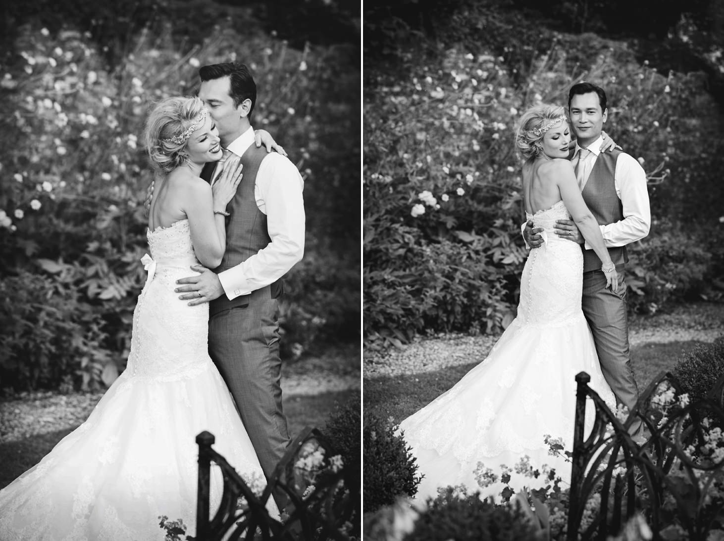 The Rectory Hotel Crudwell bride and groom portrait